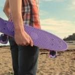 skateboard traveling