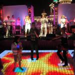 LED dance floor in Las Vegas nightclub