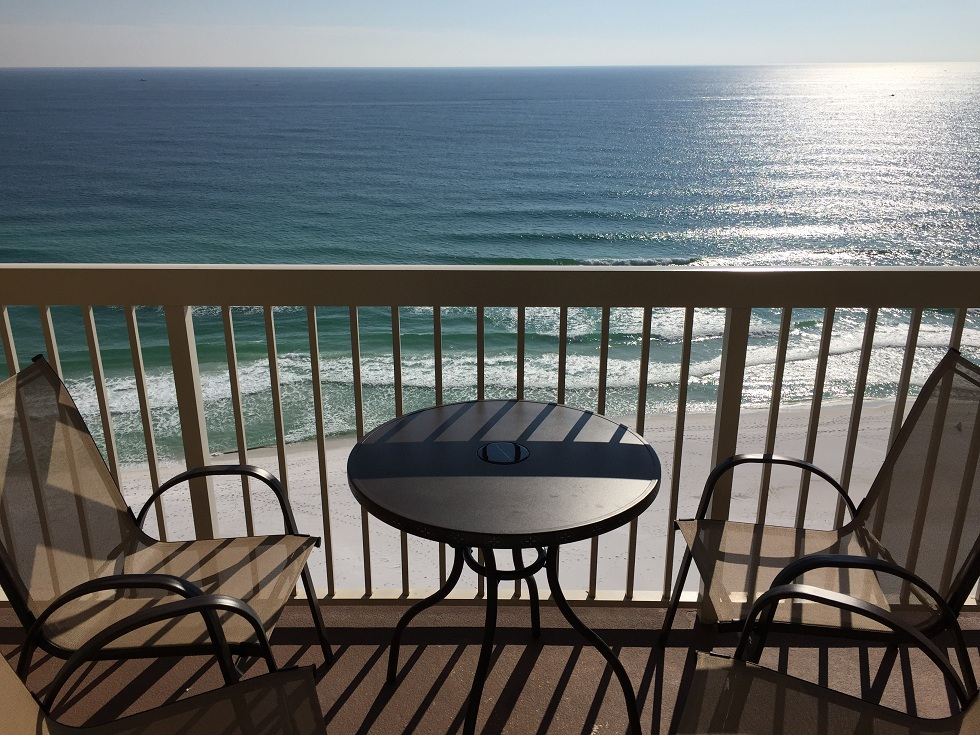 view from balcony Destin condo rental