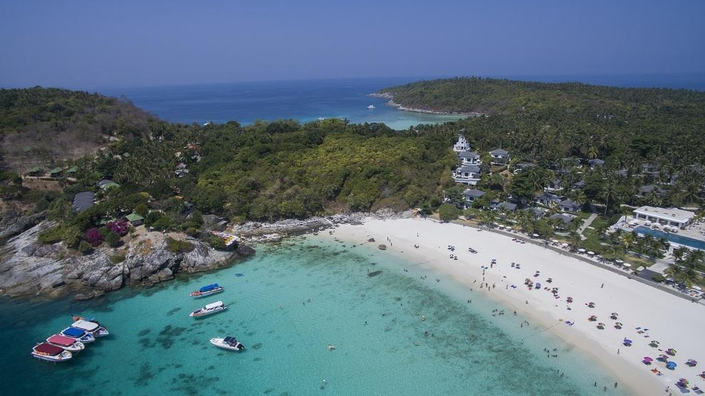 Raya Island aerial view