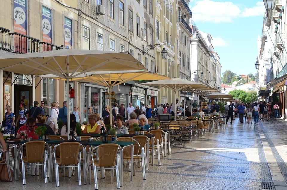 Augusta Street restaurant in Lisbon