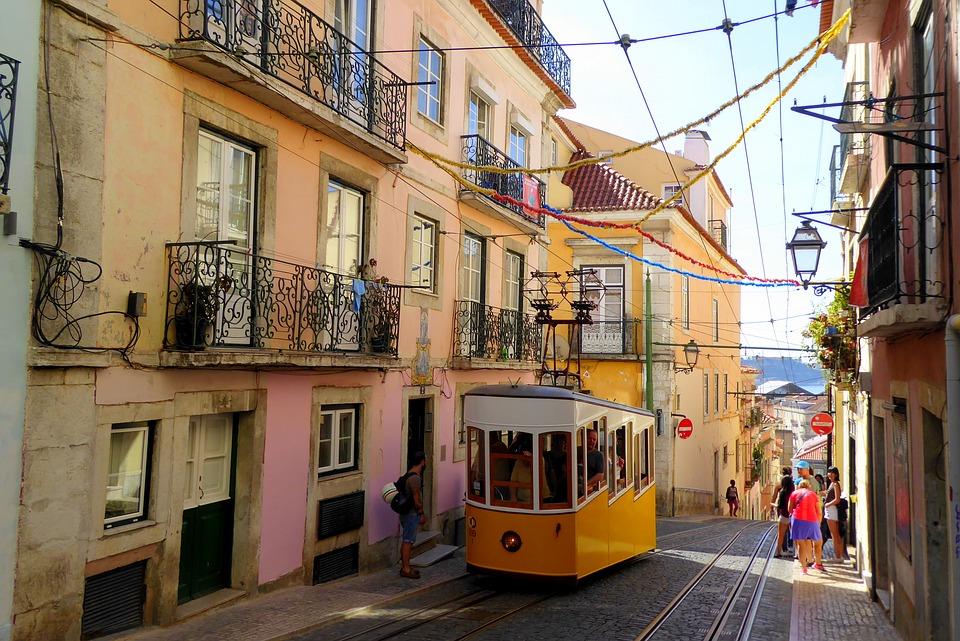 28 Line Tram in Lisbon